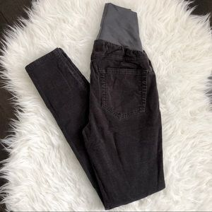 A Pea in the Pod, Gray, Skinny, Corduroy Pants, XS